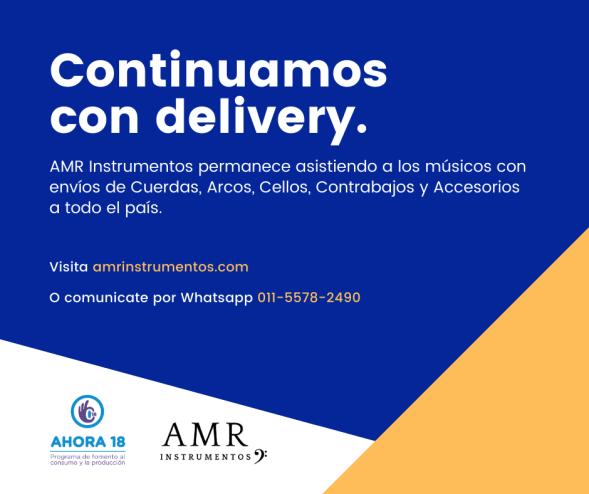 AMR Instrumentos continúa realizando envíos de Cuerdas, Cellos, Micrófonos y accesorios a todo el país.